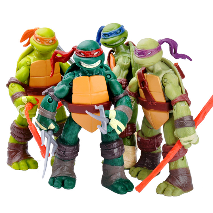 4Ninja Turtle Garage Kit Model Anime PeripheralTMNT2012For Decoration Movable Joint Figure Doll Toy ovz7