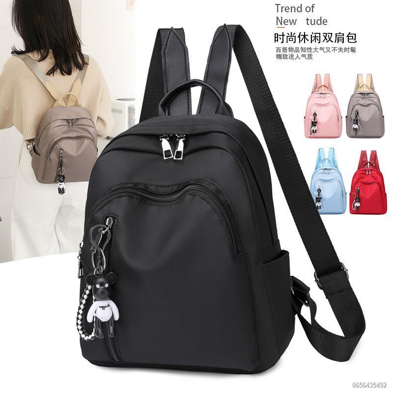☊◐☞กระเป๋าแฟชั่นสตรี สะพายหลัง ผ้าอ๊อกซ์ฟอร์ด เข้าได้ ทุกแบบ เป้เดินทางเกาหลี เป้ใบเล็ก กระเป๋าไนลอน อินเทรนด์ กระเป๋านั
