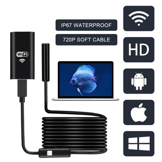 FUERS WIFI Endoscope Camera HD 1200P/720P 8mm Lens Wireless Waterproof Mini Inspection Camera Android IOS Phone WIFI End