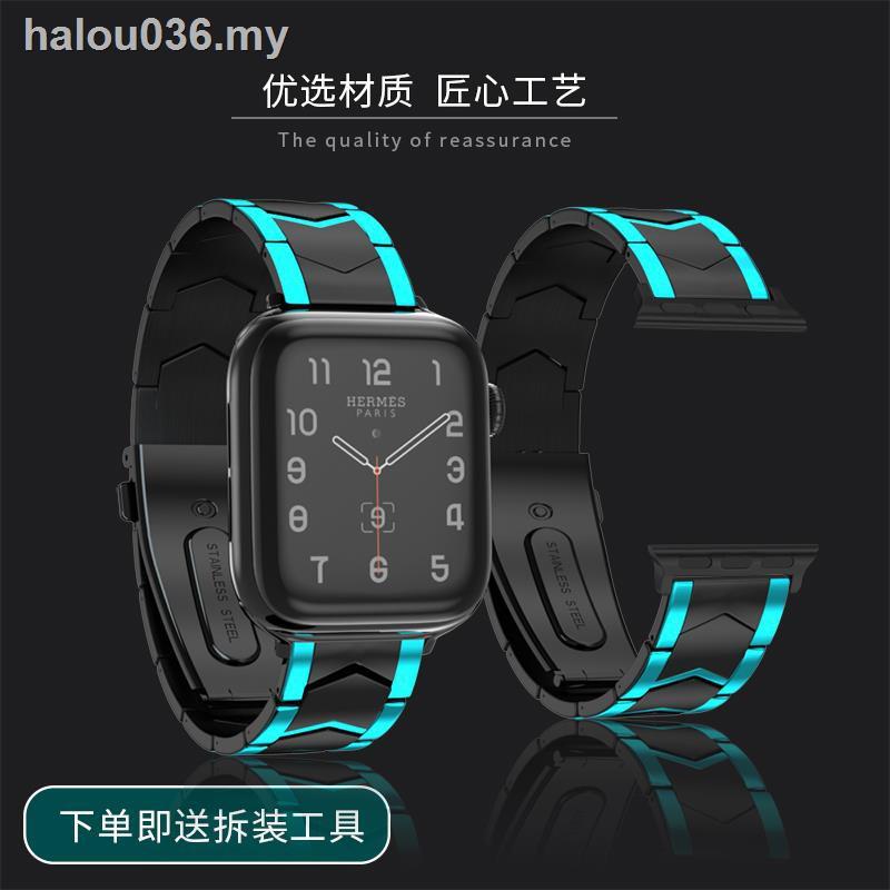 สายนาฬิกาข้อมือสแตนเลส 40 / 44 มม . สําหรับ Applewatch 5 / 4 / 3 / 2 Generation