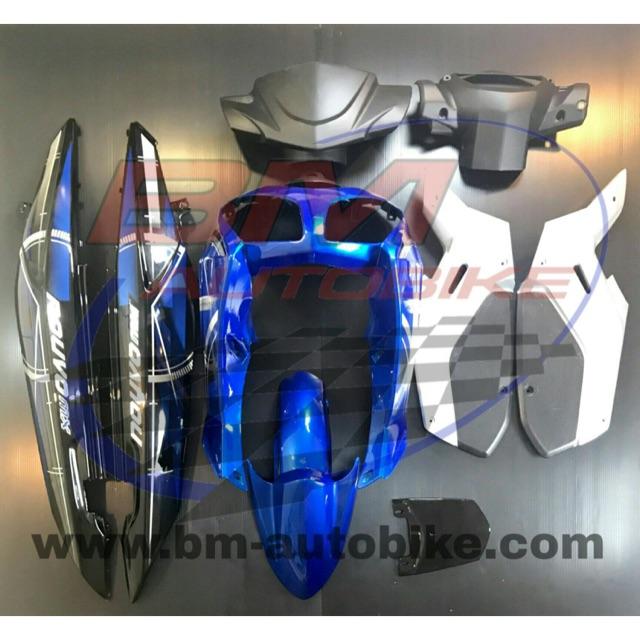 NOUVO MX ชุดสีนูโว MX สีน้ำเงินดำ เฟรมรถ กรอบรถ