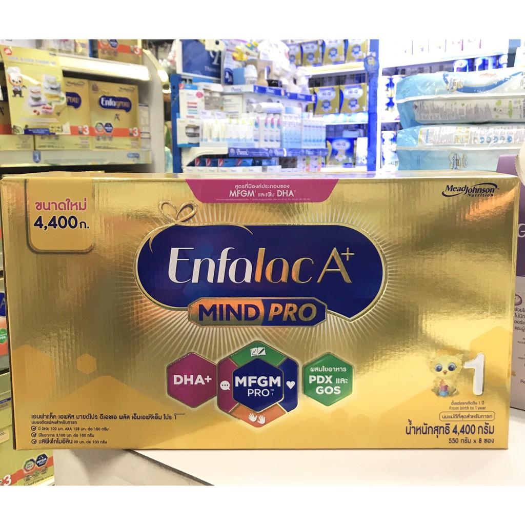Enfalac เอนฟาแล็ค เอพลัส สูตร 1 นมผง สำหรับ เด็กแรกเกิด - 1 ปี 4,400 กรัม (1 กล่อง)