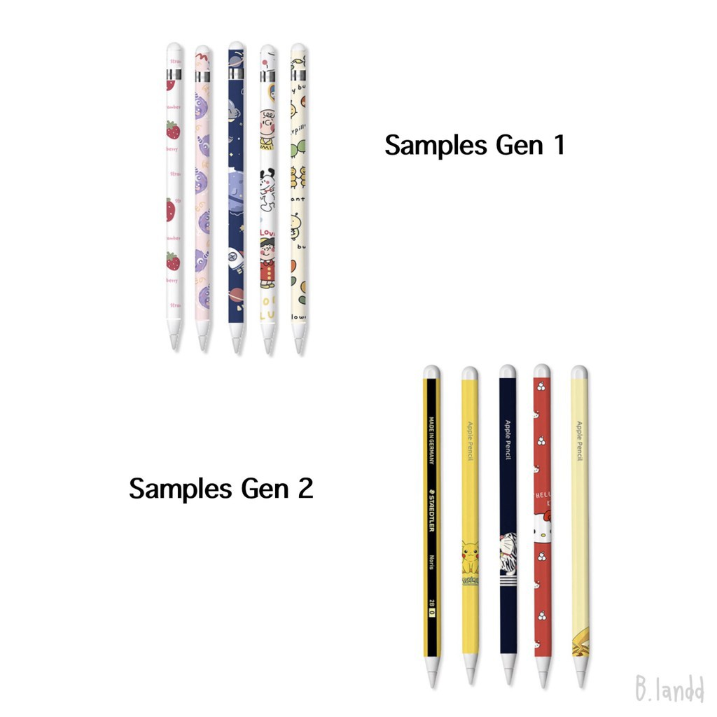 △✈[พร้อมส่ง🚗] ฟิล์มปากกาสำหรับ Apple pencil sticker gen 1/2 set ลายสนูปปี้สุดคิ้วท์✨