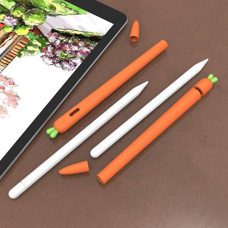 Fr เคสยางนุ่มสําหรับ Apple Pencil 1st 2nd Gen