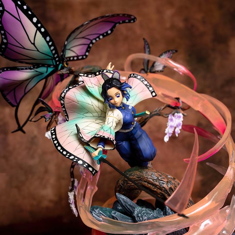 ◎Rubik s Cube Butterfly Ninja Figure Demon Slayer Gk Model Statue Demon Slayer Insect Pillar Second Element Limited Edit