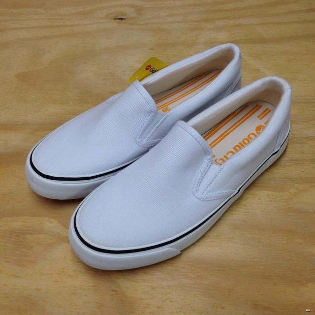 ยางยืดออกกําลังกาย♧☜☾Gold City รองเท้าผ้าใบ รุ่น 1285 (สีขาว)