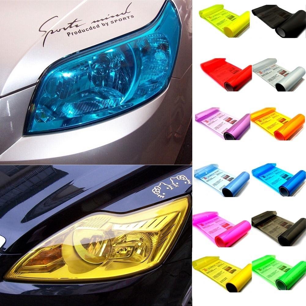 Hot Tint Gloss Dark Auto Film Smoke Fog Cars Decals Car Headlight Sticker