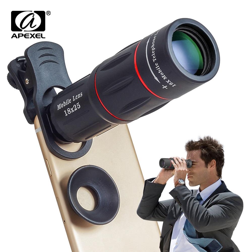 เลนส์กล้องโทรทรรศน์ซูมได้ 18 X สําหรับ Iphone Samsung สมาร์ทโฟน