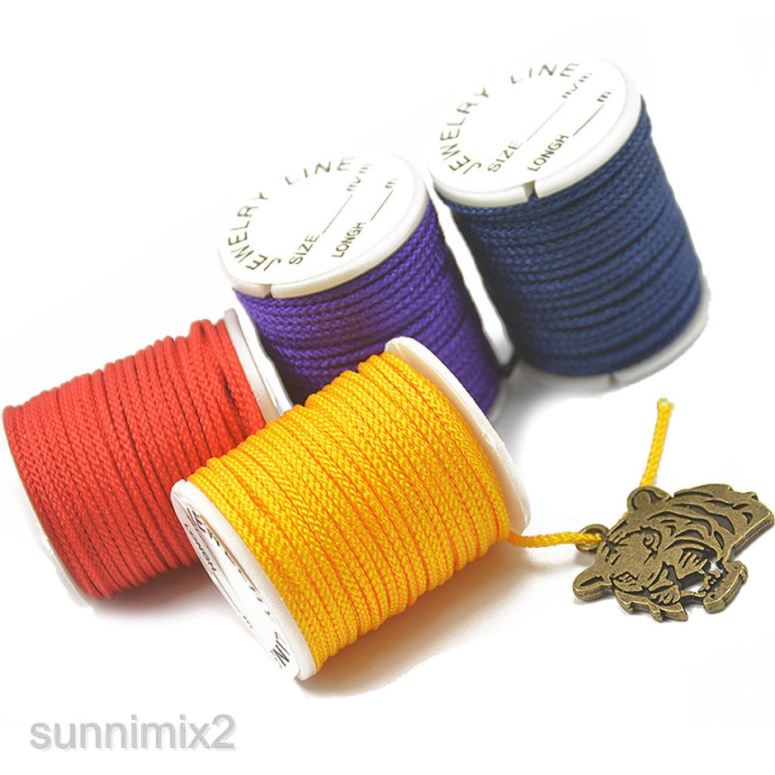 10x Rolled Chinese Knotting Cord Nylon Macrame Thread 2mm