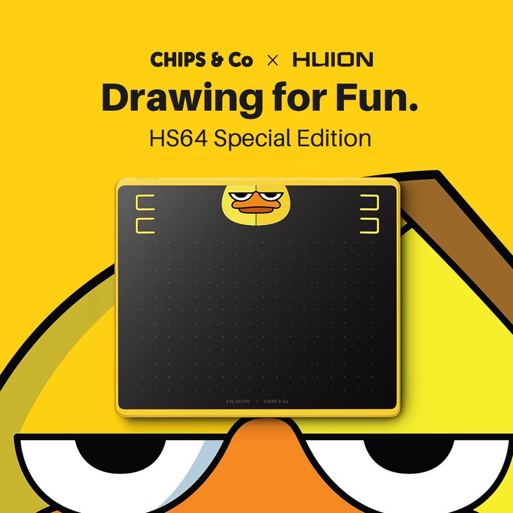 รุ่นพิเศษ! เม้าส์ปากกา HUION HS64 Special Edition  รองรับการใช้งานบนมือถือและคอมพิวเตอร์ ปากกาไม่ต้องชาร์จไฟ