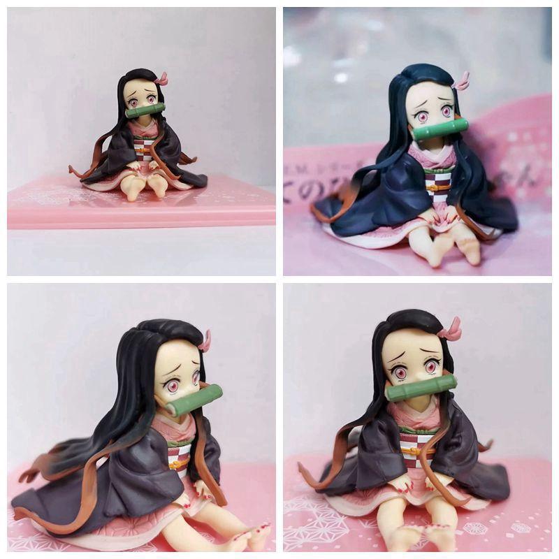 Demon Slayer Kimetsu no Yaiba Nezuko Figure Model Toy Anime Demon Slayer Figure Nezuko Cute Toy u2nA