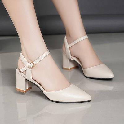 รองเท้าคัชชูผู้หญิง รองเท้าผู้หญิงรองเท้าส้นสูง รองเท้าส้นสูงหัวแหลม 2020 ฤดูใบไม้ผลิ, ฤดูร้อน, หัวแหลมใหม่, นางฟ้า, รอง
