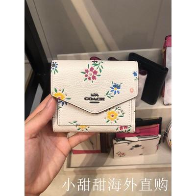 ㇼ~กระเป๋าเงินกระเป๋าสตางค์ใบสั้นผู้หญิง Coach/Coach ของแท้