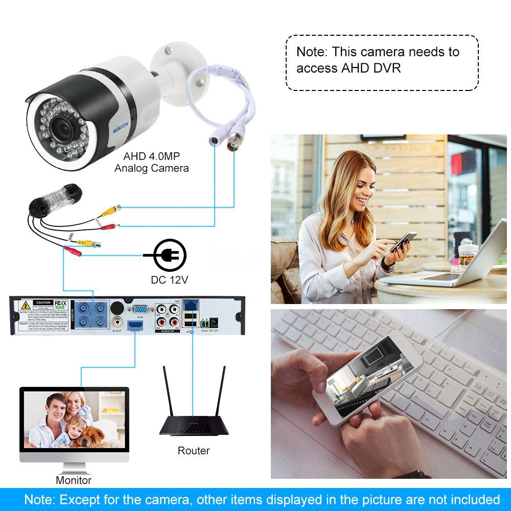 4.0MP AHD CCTV Camera Waterproof Outdoor Home Security System IR Night Vision