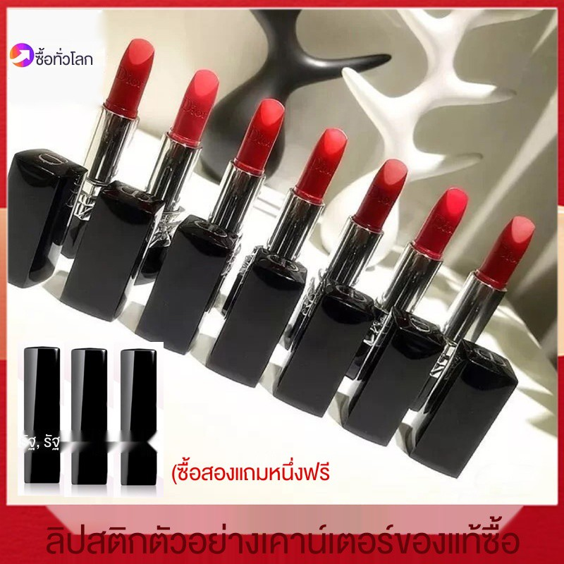 ☢✽❄Dior/Dior lipstick sample counter genuine black tube 999 888 moisturizing matte 1.4g mini trial lipstick