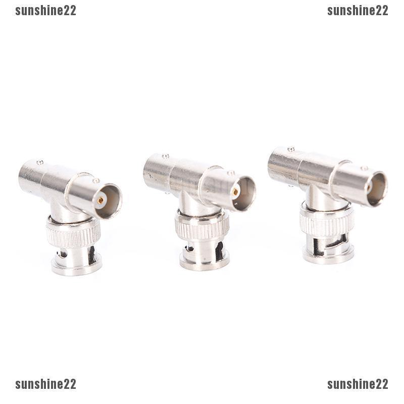 5x BNC Male To Dual 2 Female T Splitter Connector Adapter For CCTV Camera DVR/_CH