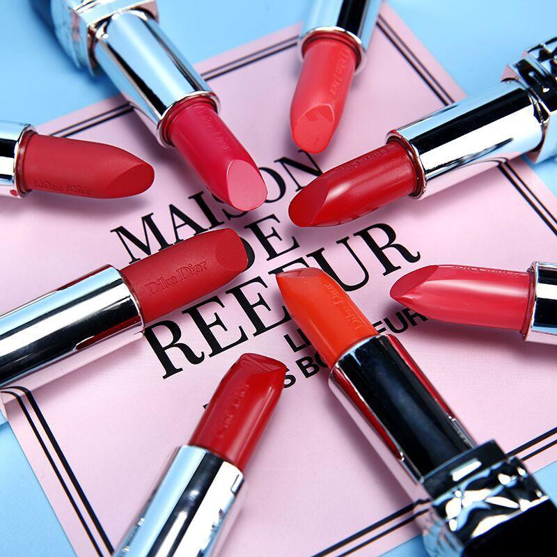 ดิออร์ลิปกลอส 3.5 กรัมแท้ 100%,Dior lipstick 999 matte, 999 wet version