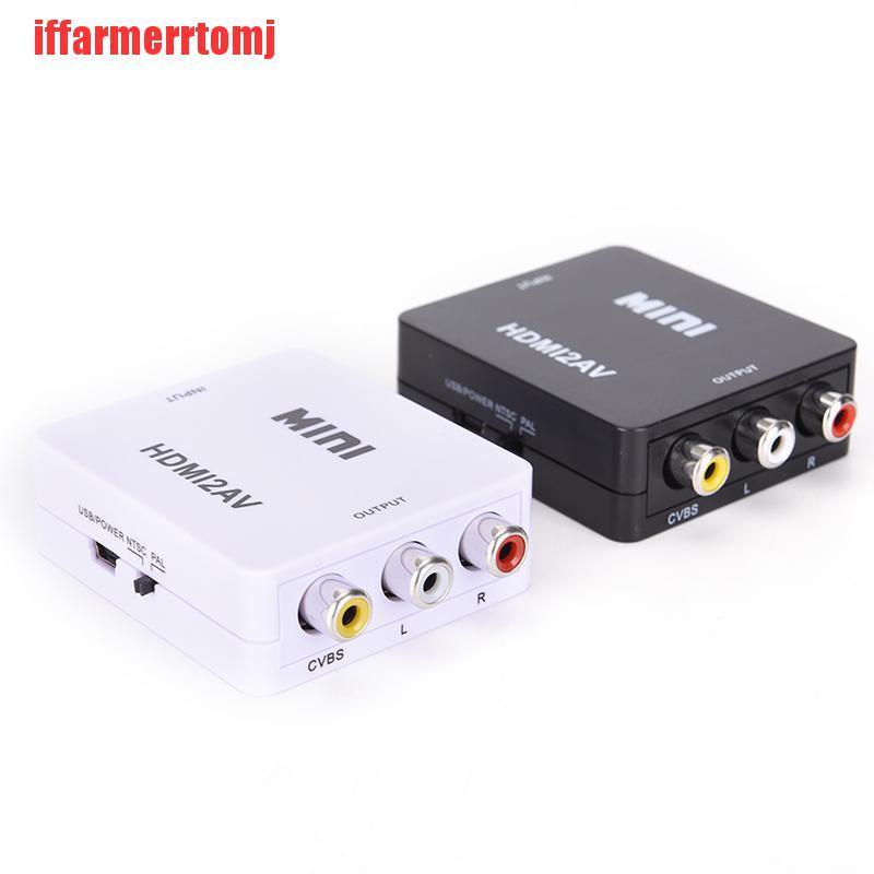 (ERH-COD)HDMI To RCA AV/CVBS Adapter HD 1080P Mini HDMI2AV Video Converter