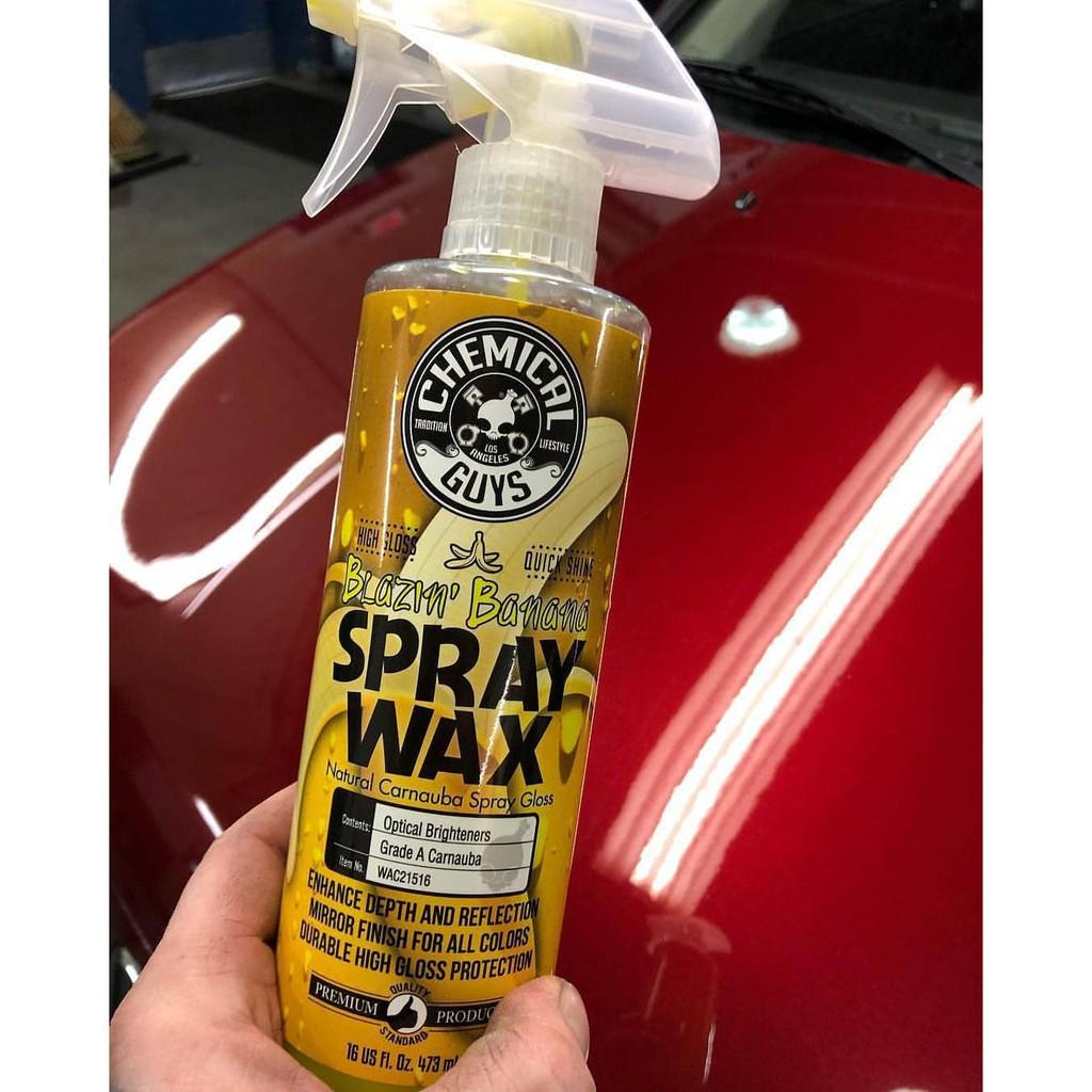 สเปร์ยเคลือบสีรถ Chemical Guys - Blazin' Banana Spray Wax (16 oz)