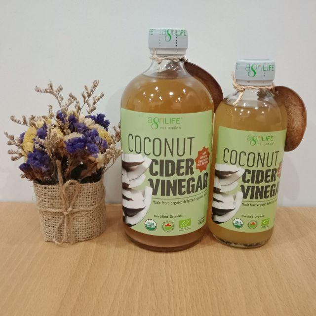 Coconut Cider Vinegar น้ำส้มสายชูมะพร้าว ออร์แกนิค #agrilife