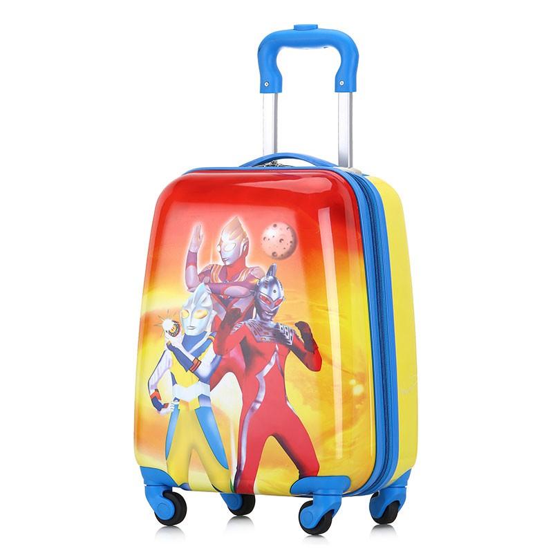 ⅽα กระเป๋ารถเข็นเดินทาง กระเป๋าเดินทางพกพา รถเข็นเด็กกระเป๋าเดินทางชายและหญิง Ultraman กระเป๋าเดินทางกระเป๋าเดินทางเด็ก