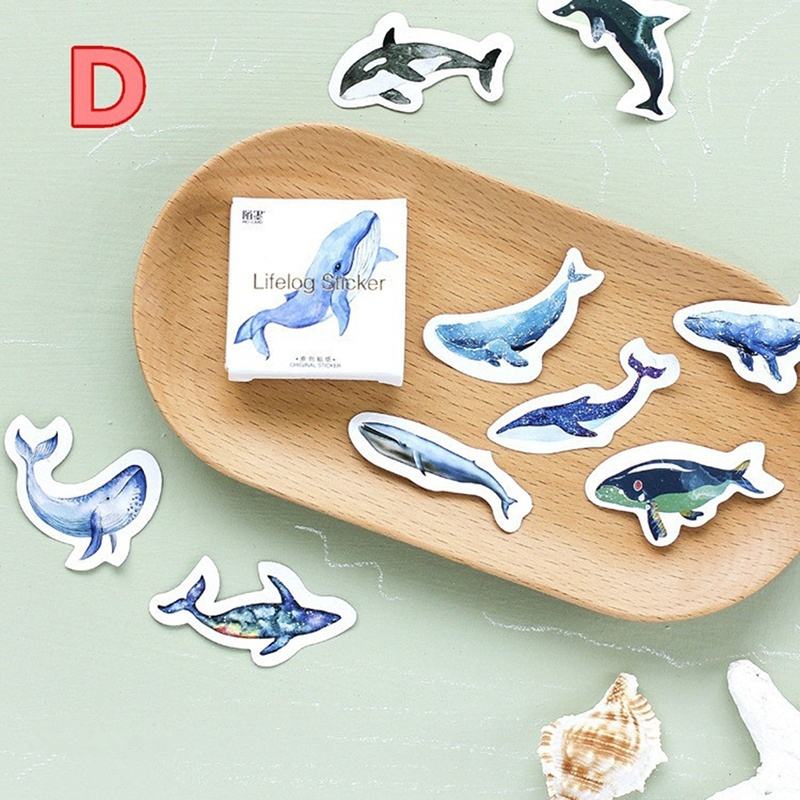 45Pcs Cake Whale Bike Pet Paper Sticker Diary Decoration Scrapbooking Sticker LG