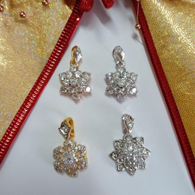 จี้ เพชร cz คละแบบ ชุด B ชุบทองไมครอน และทองคำขาว ราคาพิเศษ