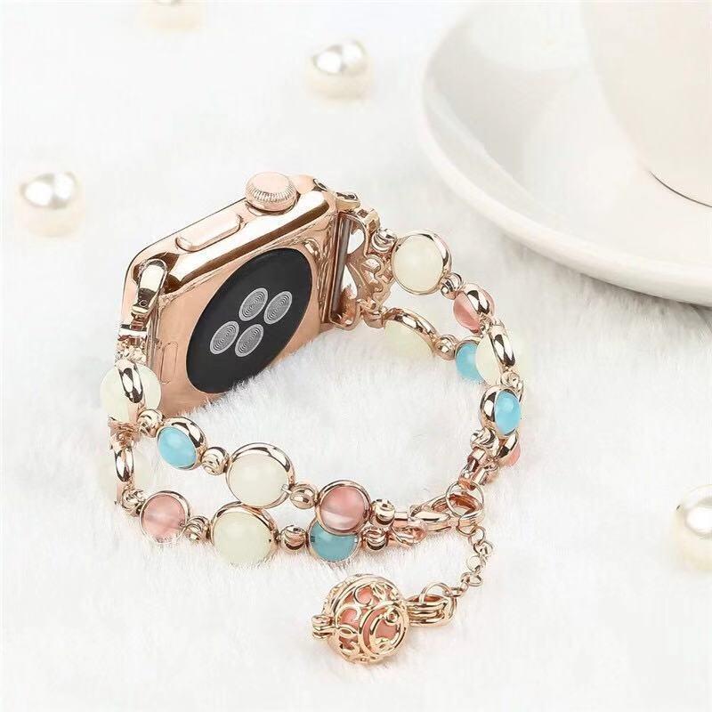 สายนาฬิกาข้อมือเรืองแสงสําหรับ Apple Watch Band 40มม. 44มม. Iwatch Band 38มม. 42มม. สําหรับ Apple Watch Series 5 4 3 2 1