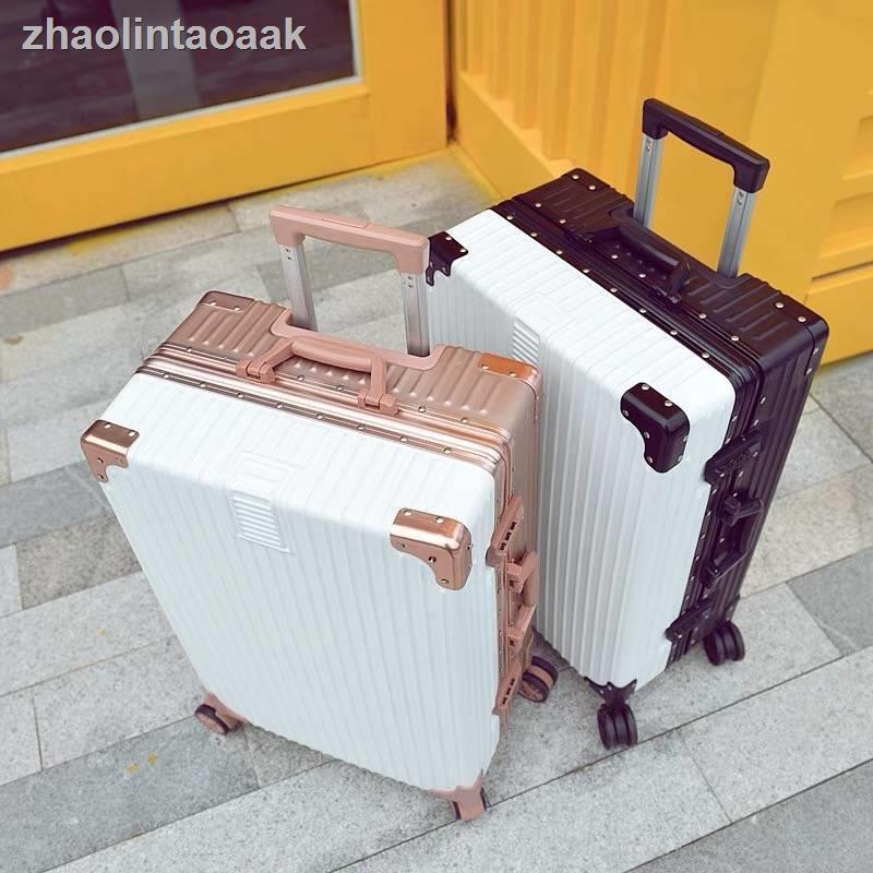 ♝﹉™เวอร์ชั่นเกาหลีของกระเป๋าเดินทางกรอบอลูมิเนียมกระเป๋ารถเข็นหญิงชายรหัสผ่านกล่องกระเป๋าเดินทาง 26 นักเรียน 24 กระเป๋