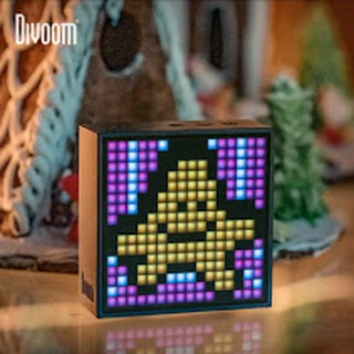 ลำโพงบลูทูธ Divoom TIMEBOX-EVO With Clock Alarm, Programmable Led Display For Pixel Art Creation Notification  Stopwatch