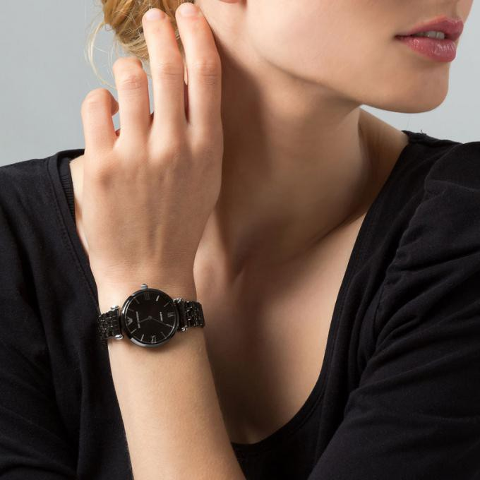 Emporio Armani Women's AR1487 Retro Black Watch