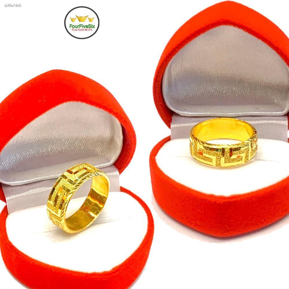 ราคาต่ำสุด✒♟▥Flash Sale แหวนทอง 1 สลึง รวยวนไป หนัก 3.8 กรัม ทองคำแท้96.5%