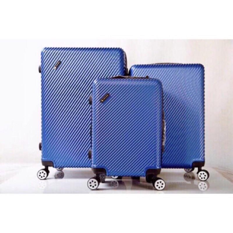 """Luggage กระเป๋าเดินทาง ไชส์20""""24""""28'นิ้วรุ่น019 4ล้อคู่360องศาล้อ+ซิปกันกรีด+ซิปขยาย"""