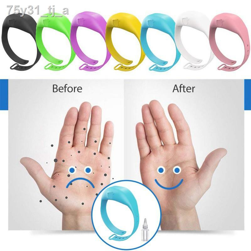 ✎✻❡✗♟สายรัดข้อมือใส่เจลล้างมือ เจลล้างมือพกพาเด็ก ขวดใส่เจลล้างมือพกพา น้ำยาล้างมือ Wristband Hand Sanitizer Dispenser