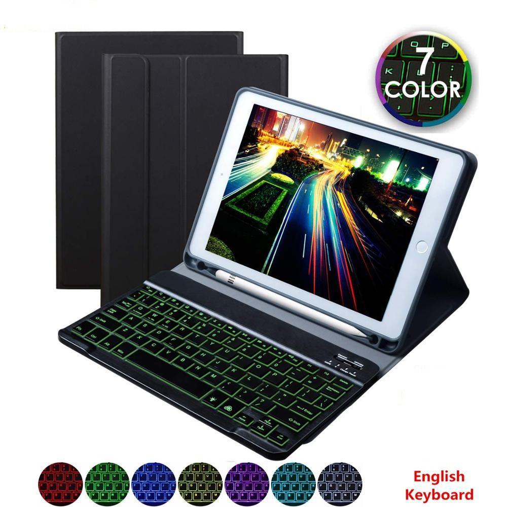 【Ready】Magnetic Adsorption Backlit Bluetooth Keyboard Pencil Holder Leather Case for Apple iPad Pro 11 Mini 5/4/3/2 iPad