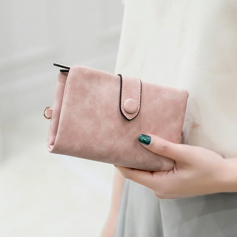 กระเป๋าสตางค์ใบสั้น หนังนิ่ม สำหรับผู้หญิง.