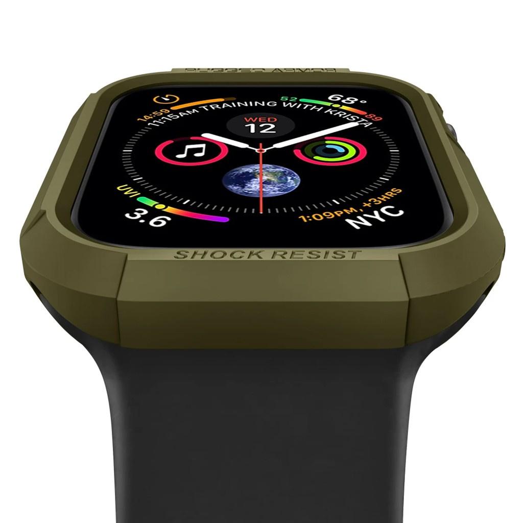 📣✅💯✐❁❧Spigen Rugged Armor Case สำหรับ Apple Watch Series 6/SE/5/4/3/2/1 44mm / 40mm 42mm 38mm แข็งแรงทนทาน ของแท้แน่นอ