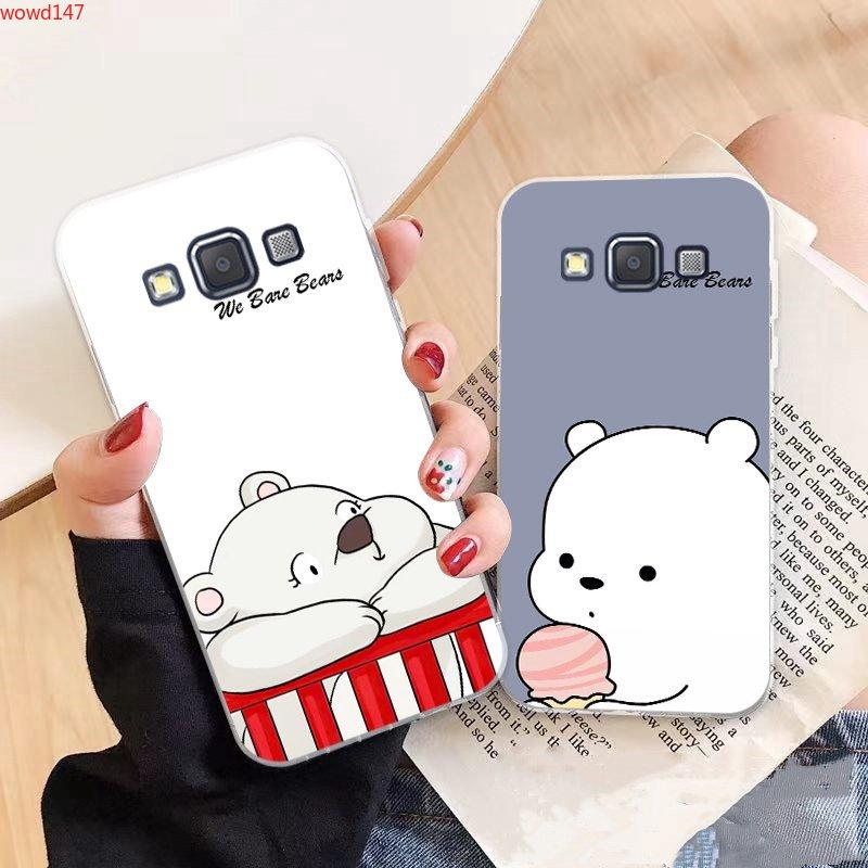 Samsung A3 A5 A6 A7 A8 A9 Star Pro Plus E5 E7 2016 2017 2018 Bear Pattern-5 Soft Silicon Case Cover