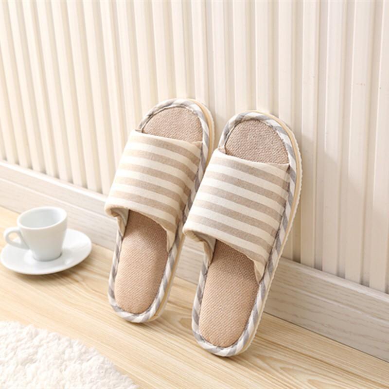 รองเท้า รองเท้าใส่ในบ้าน ใส่ในออฟฟิศ ลายขีด (เพิ่ม1ไซส์จากปกติ) พื้นมีกันลื่น สไตล์ญี่ปุ่น