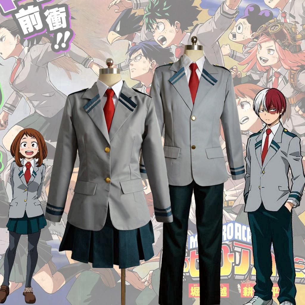 Boku No Hero Academia Cosplay Costume Asui Tsuyu Yaoyorozu Momo Summer Uniform