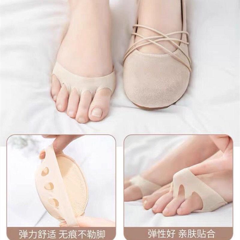 ถุงเท้า ถุงเท้าผู้หญิง ถุงเท้าแฟชั่น ถุงเท้าสั้น ถุงเท้าคัชชู ☸รองเท้าส้นสูงถุงเท้าหญิงแผ่นปลายเท้าถุงเท้าครึ่งฝ่ามือฤดู