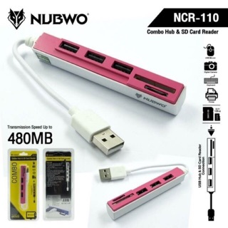 Review Nubwo NCR -110 Combo hub &Sd Card Reader