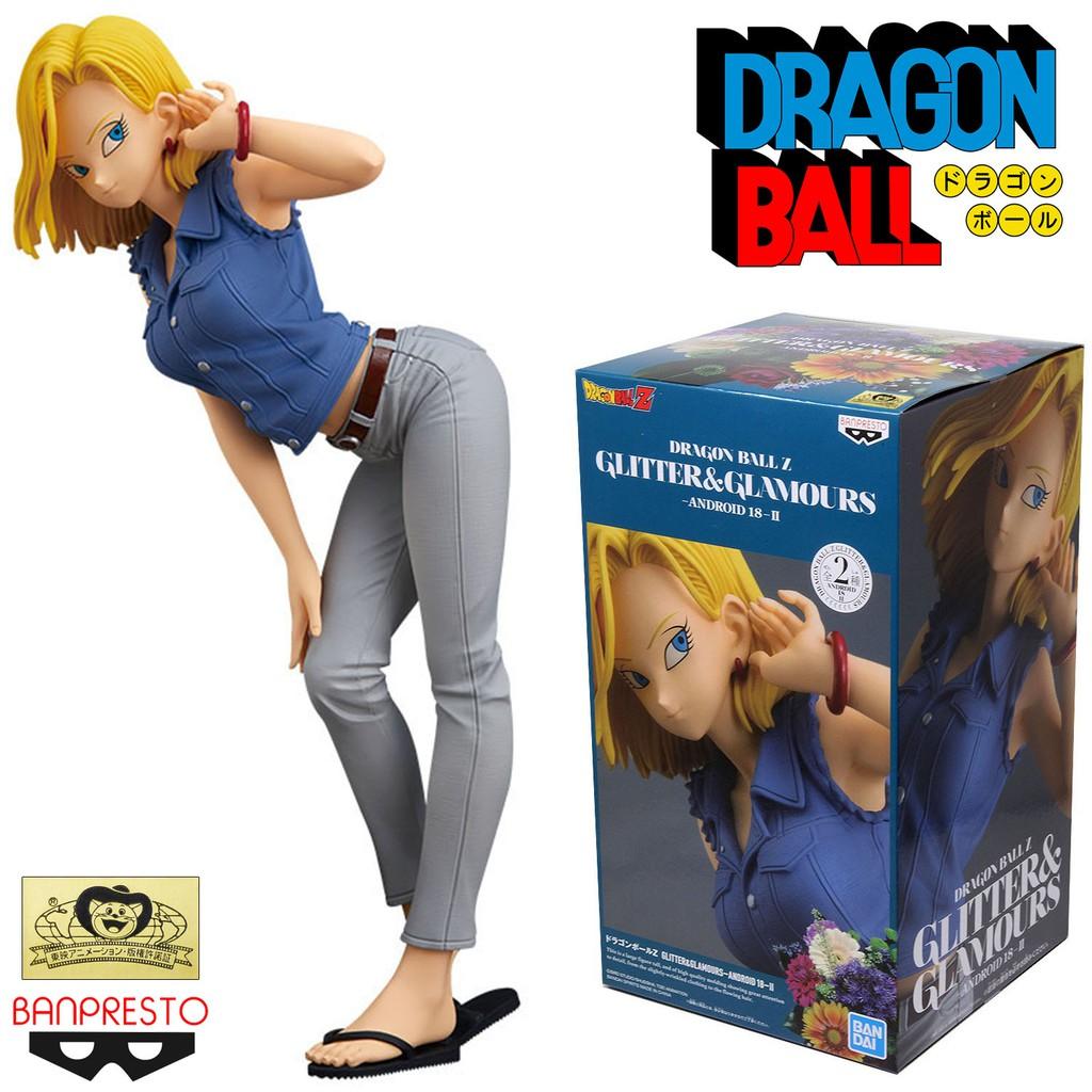 Model Figure งานแท้ แมวทอง Banpresto Dragon Ball Z ดราก้อนบอล แซต Glitter & Glamours Android 18 มนุษย์จักรกล หมายเลข 18