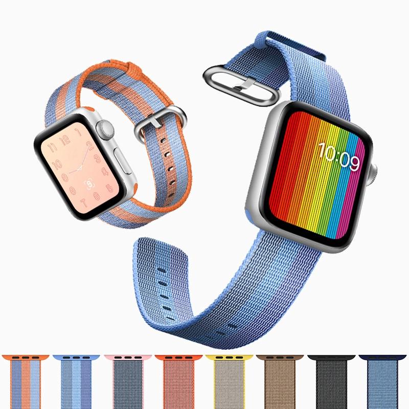 【Apple Watch Strap】สายคล้องนาฬิกาข้อมือไนล่อนสำหรับ Apple Watch Series  6 se 5 4 3 2 1