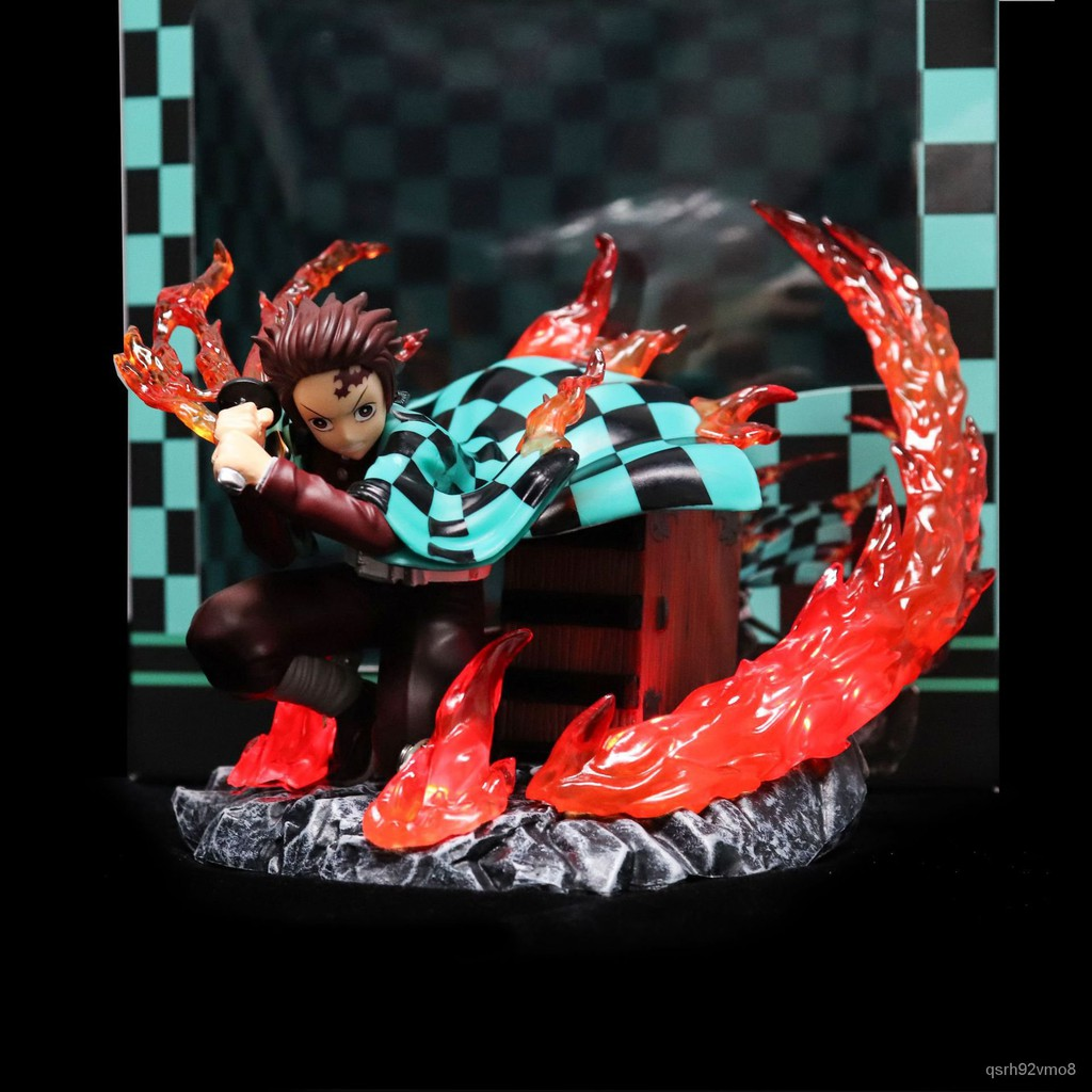 15CM Demon Slayer Kamado Tanjirou Figure VC Action Anime Figure Model Toys Model Toys Collection Doll Gifts#¥%¥# KKFo