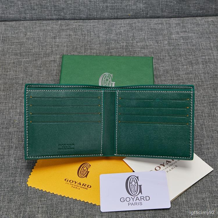 ✴♤☌High-end Dog Tooth Bag 2021 Goya Goyard Couple Wallet Short Male Bag Female Green Wallet Multi-Card Pocket Small Bag