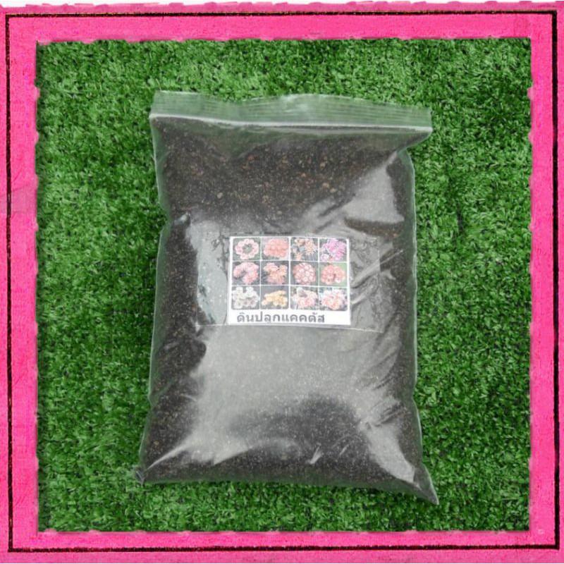 ดินปลูกแคคตัส ขนาด650 g ดินปลูกกระบองเพชร ไม้อวบน้ำ